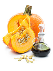 Fresh pumpkin oil