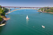 Concrete Bridge over Sea Bay in France