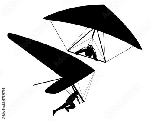 two hang gliders - 57398794
