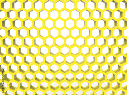 honeycomb structure yellow