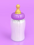 Baby bottle with milk