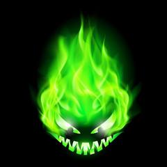 Fiery monster head.