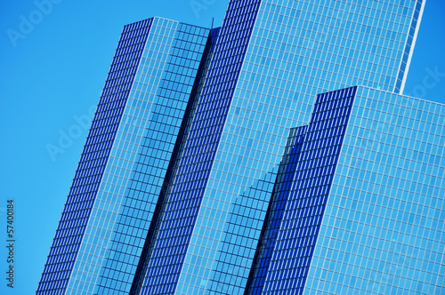 Modern commercial architecture over blue sky