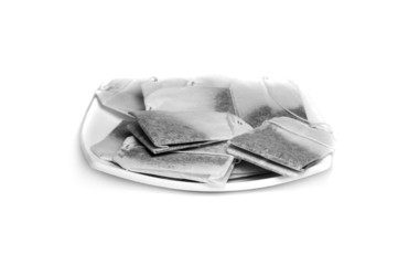 Teabags in plate