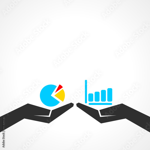 Different illustration of business graph concept