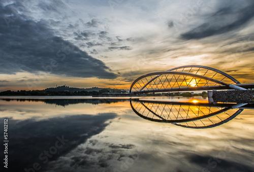 Sunrise at a bridge in Putrajaya, Malaysia