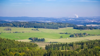 Nuclear power station Temelin view from Helfenburk