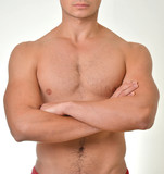 Muscular Male Torso with crossed arms