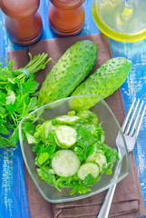 salad from cucumber