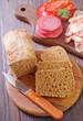 bread,bacon and salami