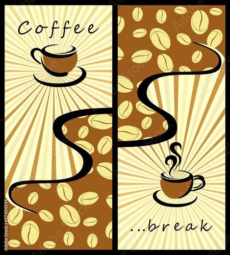 Fototapeta Coffee background . Coffee banners