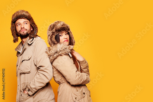 couple wearing winter hats
