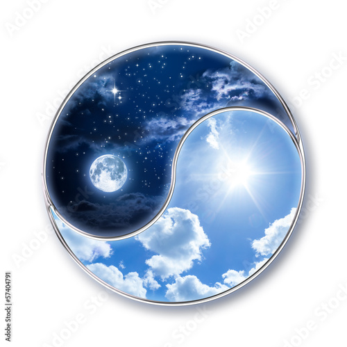canvas print picture icon tao - moon and sun