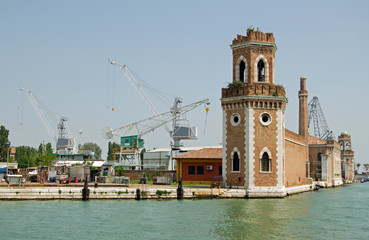 Arsenale from lagoon, Venice