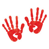 popular scream red blood two handprints halloween isolated on wh