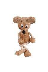 Funny toy mouse on a white background
