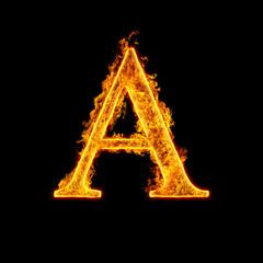 Fire alphabet letter A