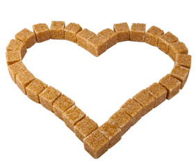 Heart from not refined reed sugar..