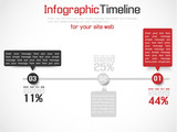 INFOGRAPHIC TIMELINE SIMPLE BLUE RED