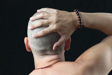 Buddhist Feels Shaved Head