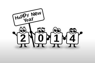 Happy New Year 2014 Toon