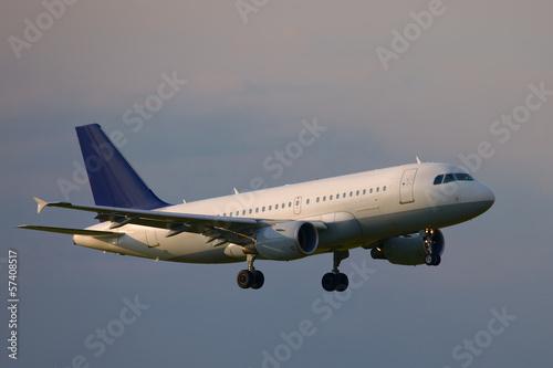Foto op Plexiglas Luchthaven Plane landing