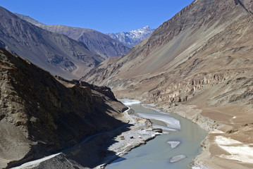 Confluence of the Indus and Zanskar Rivers, Ladakh, India