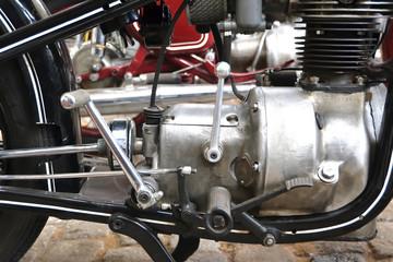 Detail von einem alten Motorrad