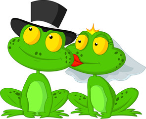 Married frog kissing