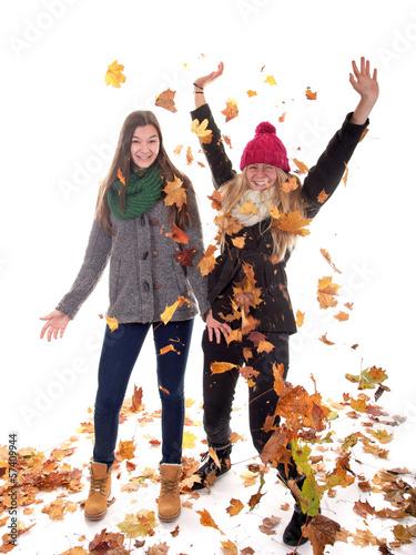 Fliegende Herbstblätter