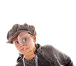 Leinwanddruck Bild - Junger Sherlock Holmes