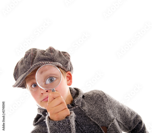 Leinwanddruck Bild Junger Sherlock Holmes