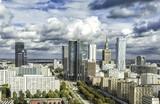 Fototapety Warsaw downtown
