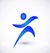Fitness figure icon vector