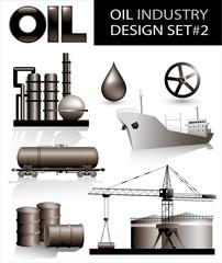 Design set of oil industry vector images (2)