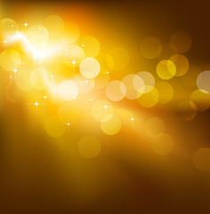Golden vector festive lights