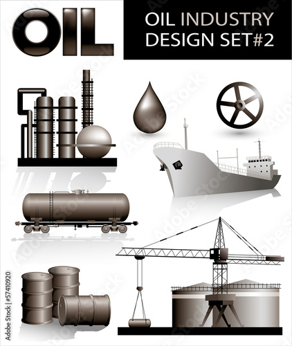 Design set of oil industry vector images (2)