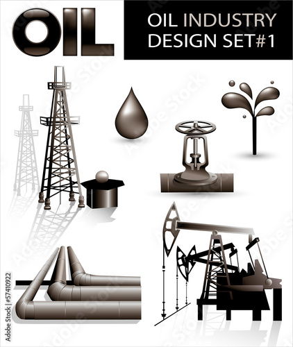 Design set of oil industry vector images (1)