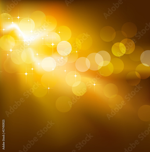 Golden vector festive lights