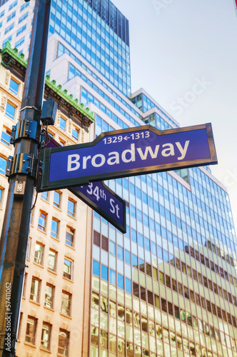 Wall mural broadway sign photo wallpaper for Broadway wall mural