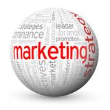 """MARKETING STRATEGY"" Tag Cloud Globe (advertising e-marketing)"