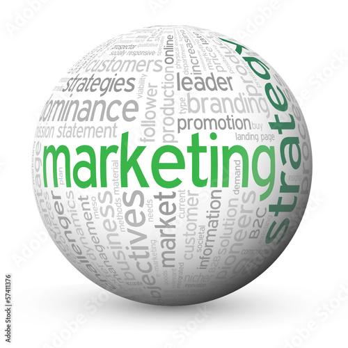 """MARKETING STRATEGY"" Tag Cloud Globe (advertising online e-mail)"
