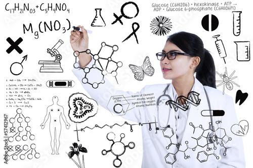Scientist writes formula