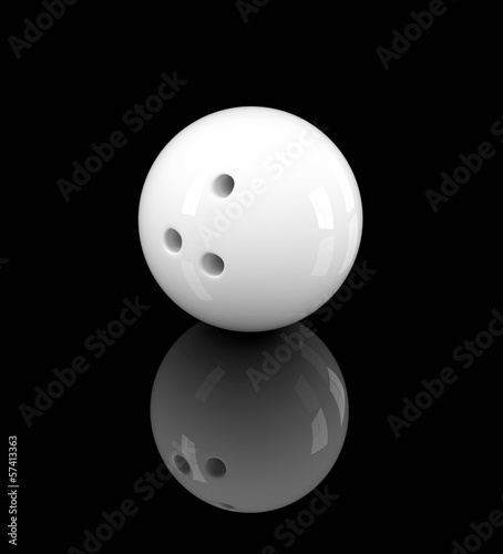 white bowling ball