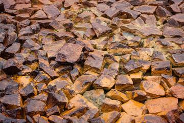 Stones in mud