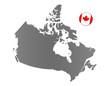 Kanada-Landkarte