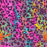 colorful animal seamless background