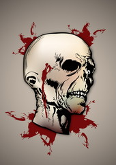 Zombie Head Illustration