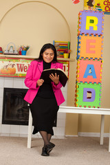 Hispanic Home Teacher Promoting Reading the Bible