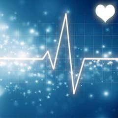 heartbeat on display